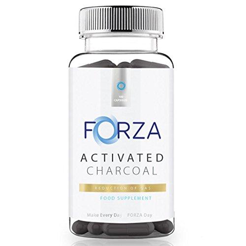 FORZA Gesundheits Aktivkohle – Reduziert Blähungen – 300 Kapseln