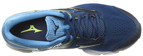 Mizuno Men's Wave Inspire 15 Running Shoe Blue Wing Teal-Dress Blue, D US