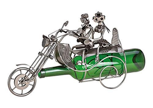 Weinflaschenhalter Paar auf Motorrad Liebespaar Ehe Flaschenhalter Weinständer Skulptur Hochzeit Liebe Geschenk-Idee (Paar auf Motorrad)