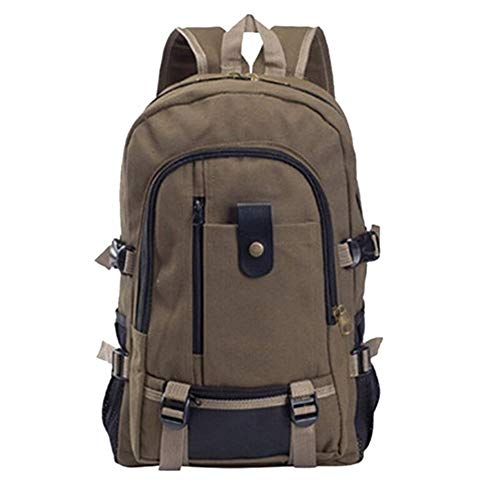 Yi-xir fashion design Men rucksack new leisure travel mountaineering hiking fashionable minimalist design large-capacity backpack Lightweight and durable (Color : Brown, Size : XL)