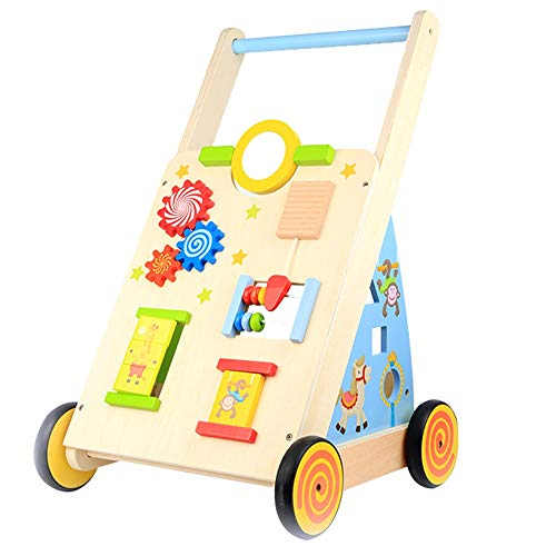 Why Should You Buy Baby First Steps Activity Walker Wooden Early Education Puzzle Baby Balance Walker Baby Push Walker Rollover Prevention Over 3 Years Old Trolley Toys Children Kids Boys and Girls