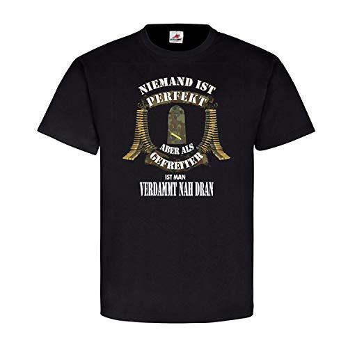 Niemand ist Perfekt Gefreiter Marine Dienstgradabzeichen Truppe T-Shirt #20599, Farbe:Schwarz, Größe:4XL