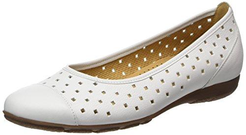 Gabor Shoes Fashion, Ballerines Femme, Blanc (Weiss 21), 37 EU