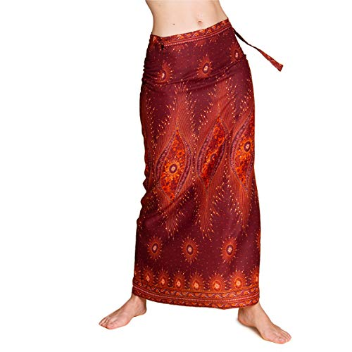 PANASIAM wrap Skirt, V24 Russet
