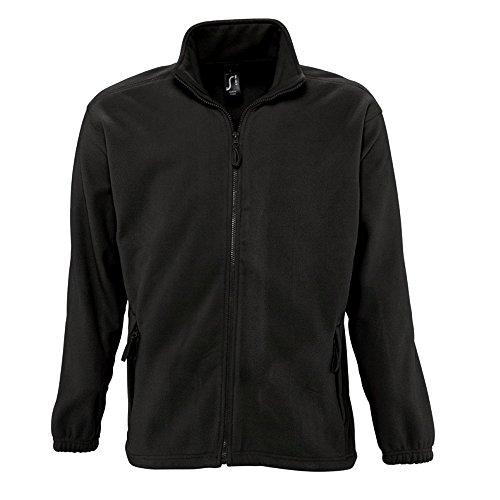 Sols Herren Outdoor Fleece Jacke North (2XL) (Schwarz)
