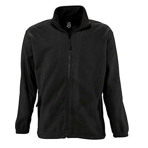 Sols Herren Outdoor Fleece Jacke North (2XL) (Schwarz)