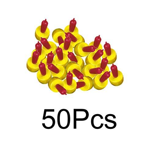H HILABEE 50pcs Lämmeraufzucht Ersatzsauger aus Silikon für Lämmerflasche