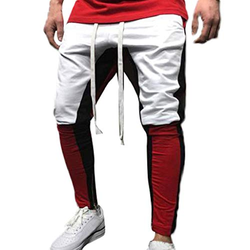 Quicklyly Pantalones Vaqueros Hombre Pitillo Rotos Chandals Trekking Skinny Moda Para Hombre Deporte Trotar Pantalon Deportivo Pantalones Holgados Sueltos Con Cordon