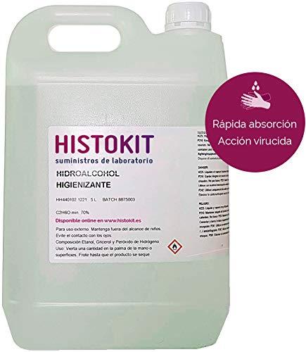 Solución Hidroalcohólica 5 litros 70% vol. HIDROALCOHÓ