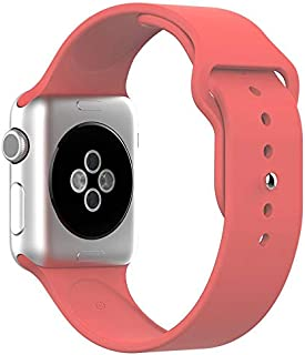 Silicone Sport Replacement WristBand Strap for Apple Watch 38mm - Watermelon Red