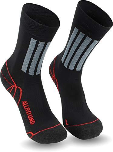 1-3 Paar Allro& Sport & Trekking-Socken mit X-Static® Silbersocken mit antibakteriellen Eigenschaften für Sportler Größe 3 Paar 47/50