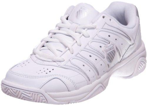 K-Swiss Women's Grancourt II Tennis Shoe,White/Silver,8 XW