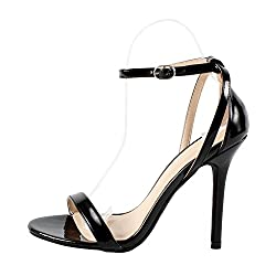 powerful Wild Diva New Women's Fashion Ankle Cutout Sandals Stiletto Heels High Heels Shoes 5US
