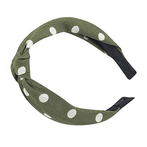 Satiable Haarband Damen Einfach Elastisches Haar Kopfband Frauen Vintage Punkt Dot Retro Elegant Haar Stirnband Mädchen SüßE Twist Knoten Täglich und Party Haarschmuck Stirnband Kopfband Stirnbänder