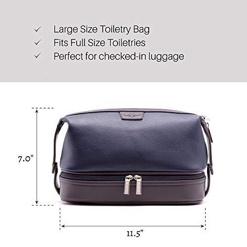 Vetelli Leo Leather Wash Bag for Men