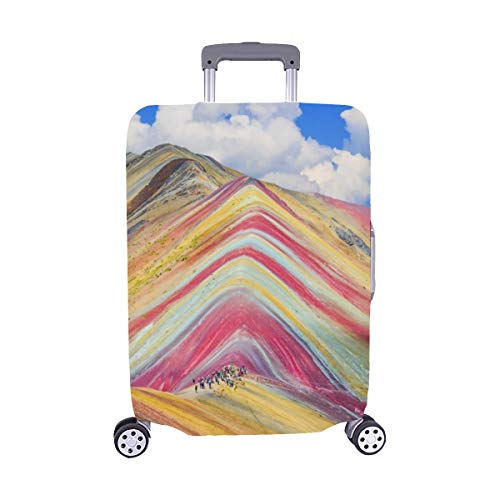 Vinicunca Región de Cusco Perú Montana De Spandex Maleta de Viaje Maleta Protectora de Viaje Cubierta 28.5 X 20.5 Inch