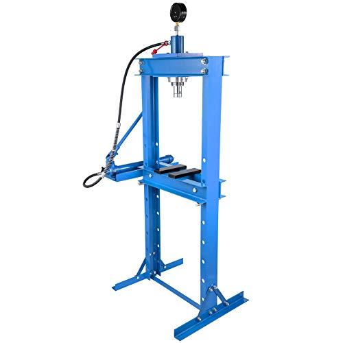 VEVOR Presse d'atelier hydraulique de 20 tonnes Hydraulique d'Atelier Presse hydraulique d'établi avec pompe et manomètre pour plier ou redresser le métal