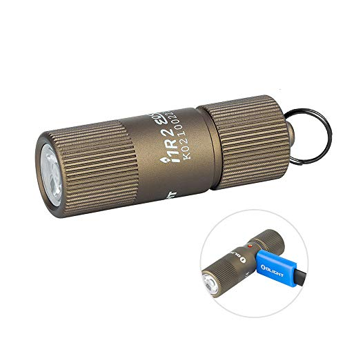 OLIGHT i1R 2 EOS Desert Tan 150 Lumens Tiny Rechargeable