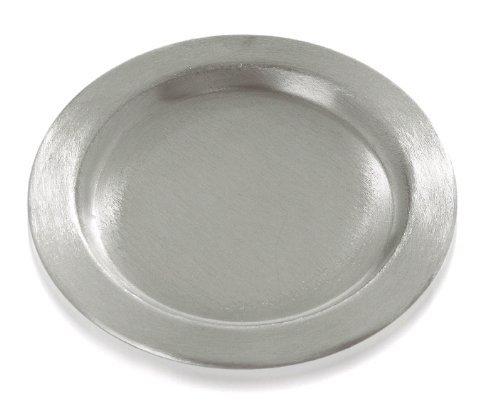 Kerzenhalter Dekoteller, Durchmesser 140 mm, Silber für Taufkerzen, Kommunionskerzen, Konfirmationskerzen, Hochzeitskerzen