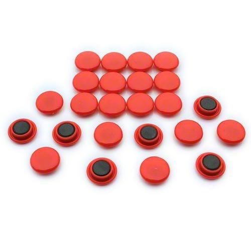 Expert Ltd - Calamite per bacheca piccola da 20 x 7,5 mm, per ufficio e frigorifero, colore: Rosso (Confezione da 24)