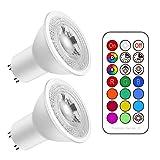 Ampoule LED GU10 5W Équivalent 50W, Ampoule Led Dimmable Blanc Froid (6000K) RGB...