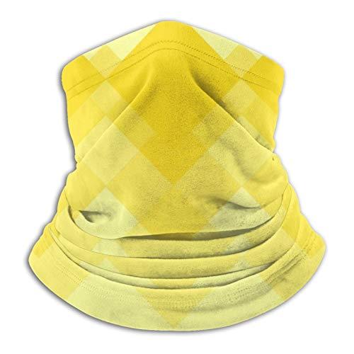 Pañuelo de diseño amarillo para cuello, pañuelo para cabeza, calentador de cuello, pasamontañas para motocicleta, ciclismo, montar a caballo, correr