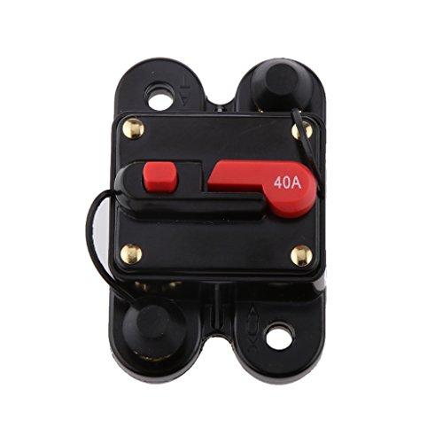 IPOTCH Disyuntor de Reinicio Manual Impermeable de 40 Amperios 12v / 24v Fusible Automático 40A para Barco