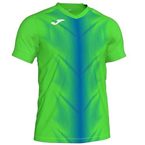 Joma Olimpia Camisetas, Hombre, Verde Fluor/Royal, XL