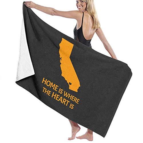 U/K Toalla de baño Home Is Where The Heart Is - Orange County Southern California de secado rápido