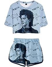 Camiseta y Pantalón Corto Stranger Things Adolescente Chica Stranger Things Impresión 3D Camiseta de Manga Corta Verano Conjunto Deportivo Top y Pantalones Cortos para Niña y Mujere