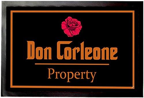 1art1 Don Corleone - Don Corleone Property Felpudo Alfombra (60 x 40cm)