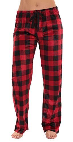 #followme Fleece Pajama Pants for Women Sleepwear PJs 45803-10195-RED-XS