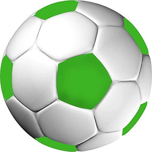 Tortenaufleger Fußball grün in 3D-Optik / 20 cm Ø
