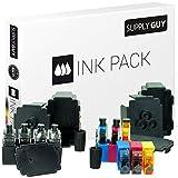 SupplyGuy Kit Recarga Compatible con Canon PG-540 / CL-541 Cartuchos - 4X Nero + 2X Color - Incl. Accesorios para el llenado fácil y Limpio de los Cartuchos / CL541