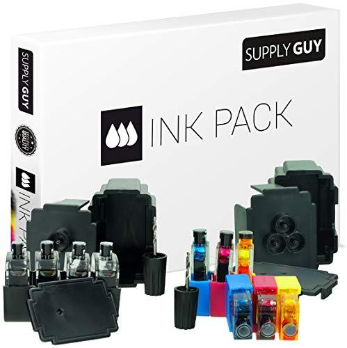 SupplyGuy Kit Recarga Compatible con HP 301 XL - 4X Nero + 2X Color - Incl. Accesorios para el llenado fácil y Limpio de los Cartuchos 301 / 301XL