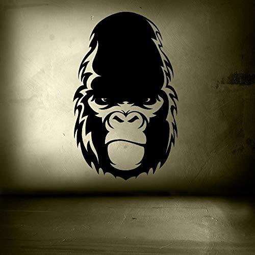 mgrlhm Wandaufkleber King Kong Vinylaufkleber Schädelinsel abnehmbares Schlafzimmer Wohnzimmer Dekoration Fenster Poster Wohnkultur WW 90X57CM