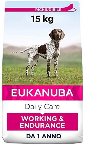 Eukanuba, Alimento Completo per Cani di Lavoro, di Tutte le Taglie, Crocchette di Pollo, 15Kg