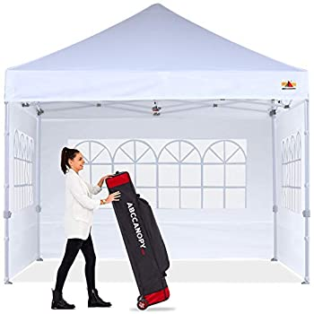 ABCCANOPY Ez Pop Up Canopy Tent 10x10 with Church Window Sidewalls Party Tent-Series,White