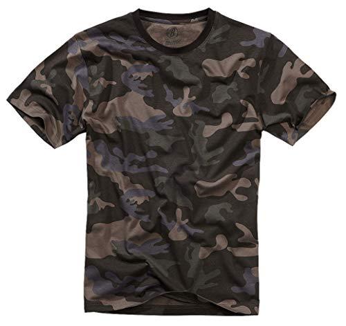Brandit Camiseta, Muchos (Tarn Colores, Tallas S hasta 7XL - Camuflaje Oscuro, M