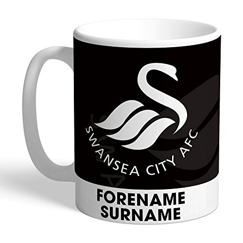 Swansea City AFC Official PERSONALISED Bold Crest Mug