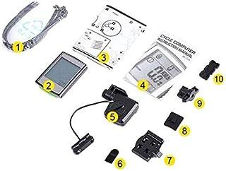 Ordenador de bicicleta Bicicletas inalámbrica del ordenador con conexión de cable bici de Mtb de retroiluminación LED digital de ciclo del velocímetro del odómetro del cronómetro del monitor del ritmo