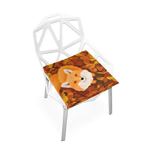 Cojín de espuma viscoelástica para sillas de cocina, suave, lavable, antipolvo, silla de comedor, cojín de 40,6 x 40,6 cm, color rojo