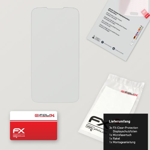 atFoliX Displayschutzfolie für Huawei Ascend Y200 (3 Stück) - FX-Clear: Displayschutz Folie kristallklar! Höchste Qualität - Made in Germany! - 2
