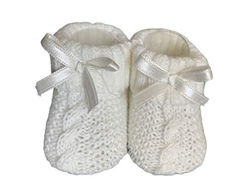 Dor Socken für Babys, Mädchen, 0-6 Monate, geflochten, in Geschenkbox, Socken mit Schleife für Neugeborene, Mädchen, Weiß 6 meses