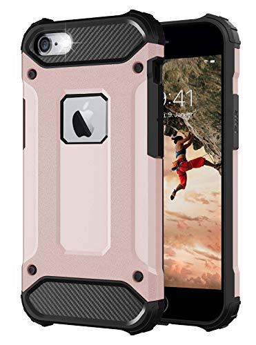 BYONDCASE Funda para teléfono móvil iPhone 6 Plus, color rosa [Tank Outdoor Case] iPhone 6 Plus Carcasa rígida ultra delgada compatible con iPhone 6 Plus