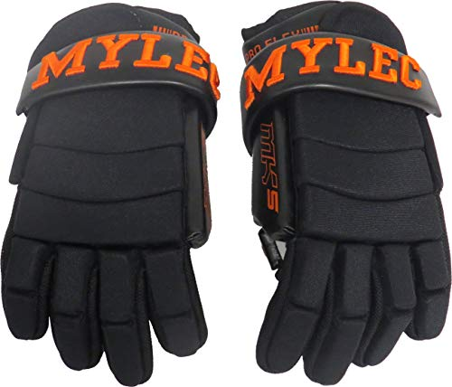 """Mylec MK5 Player Gloves - Black/Orange 13"""", Model Number: 491"""