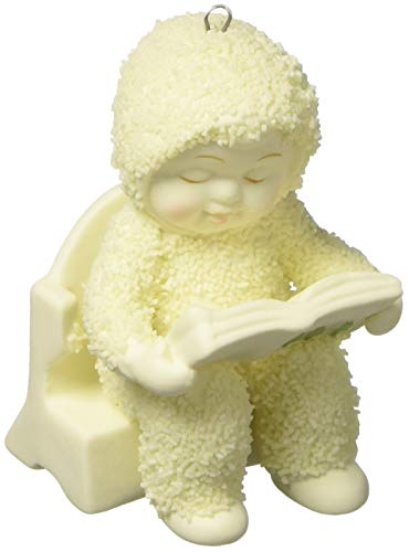"Department 56 Snowbabies ""First Book"" Porcelain Hanging Ornament, 2.75"""