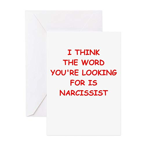 CafePress Narcissist Greeting Cards Greeting Card, Note Card, Birthday Card, Blank Inside Matte
