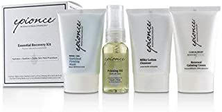 Epionce Essential Recovery Kit: Milky Lotion Cleanser 30ml+ Priming Oil 25ml+ Enriched Firming Mask 30g+ Renewal Calming Cream 30g 4pcs並行輸入品