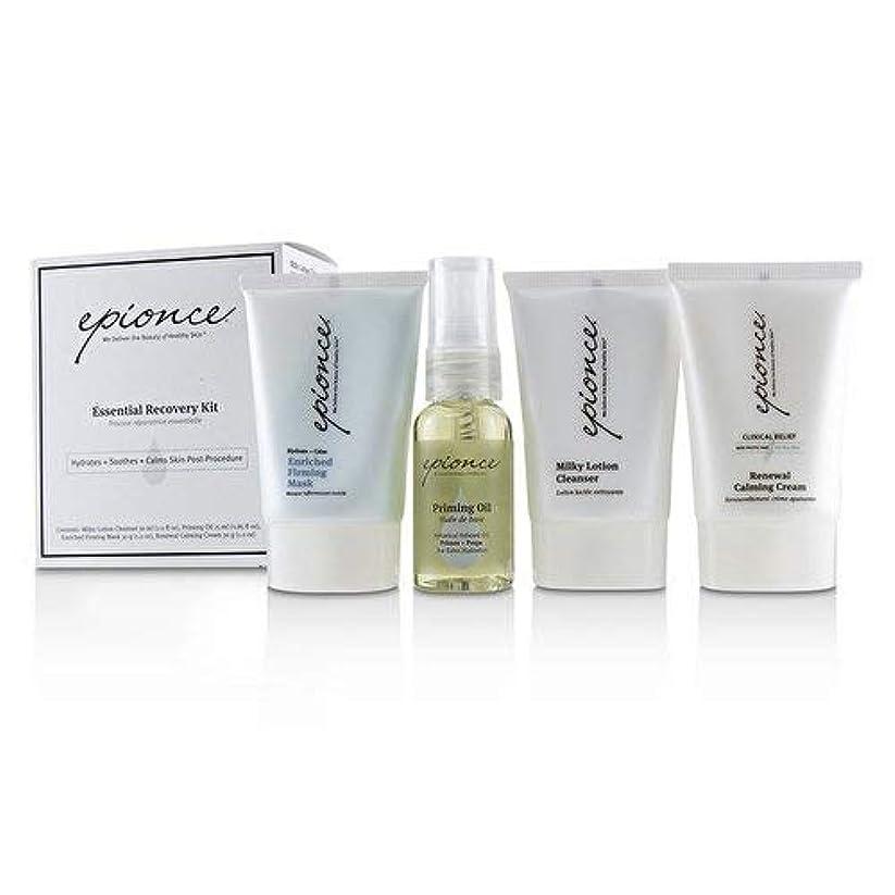 発表する宴会断線Epionce Essential Recovery Kit: Milky Lotion Cleanser 30ml+ Priming Oil 25ml+ Enriched Firming Mask 30g+ Renewal Calming Cream 30g 4pcs並行輸入品